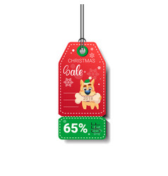 new year sale tag design holiday discount isolated vector image