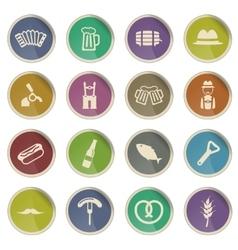 Oktoberfest simply icons vector