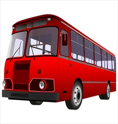 passenger bus vector image vector image