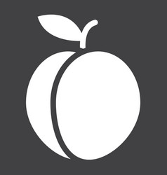 Peach solid icon fruit and diet graphic vector