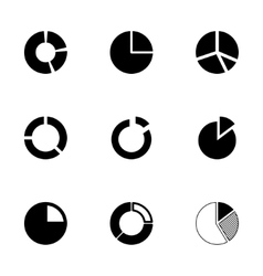 pie chart icon set vector image