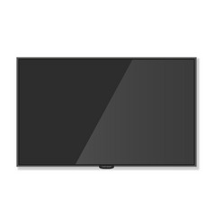 plasma tv hanging on the wall with shadow white vector image
