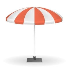Red striped market umbrella for outdoor event vector image vector image