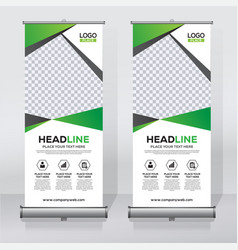 Roll up banner design print template vector
