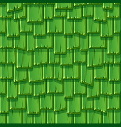 seamless pattern a wooden tiled green roof vector image
