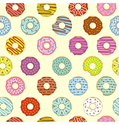 Seamless pattern donuts vector