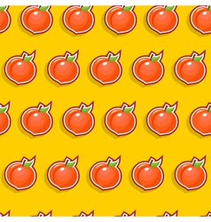 seamless peach pattern vector image