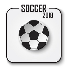 soccer cup 2018 single icon vector image