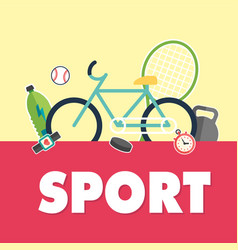 sport bicycle sport equipment background im vector image