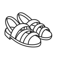 Summer sandal iconline icon vector