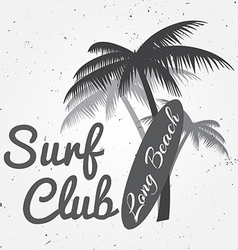 Surf club concept Summer surfing retro badge vector
