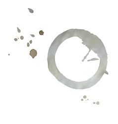 tea cup trace vector image