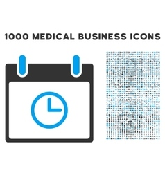 Time calendar day icon with 1000 medical business vector