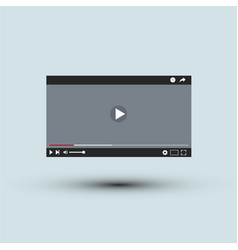 Video player interface l flat design vector