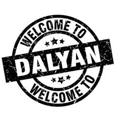 welcome to dalyan black stamp vector image