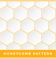 white honeycomb seamless pattern natural honey vector image