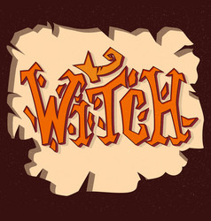 witch grunge poster hand drawn vector image