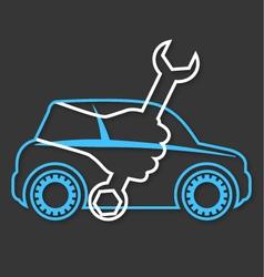 Auto service station design vector image