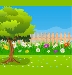 beautiful rural landscape view vector image vector image