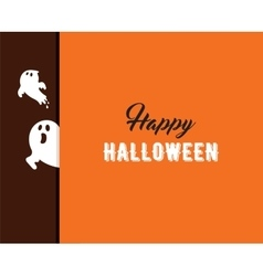Halloween greeting cards banner with ghost vector