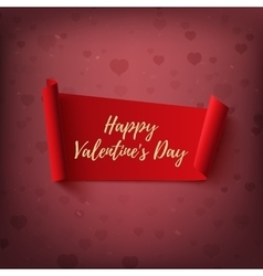Happy Valentines Day red abstract banner on vector image