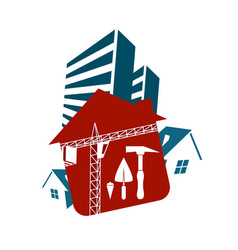 housing construction vector image vector image