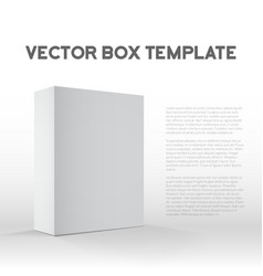 Realistic Blank White Packaging Box Template for vector image vector image