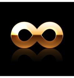 Golden Infinity Symbol vector image vector image
