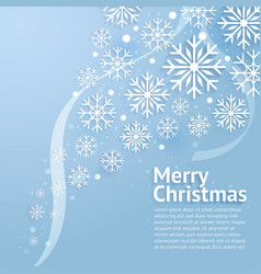 merry christmas art vector image vector image