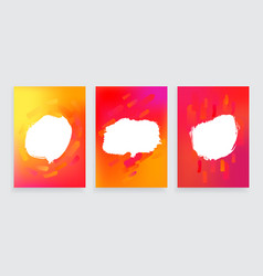 set of three one style banners with abstract vector image