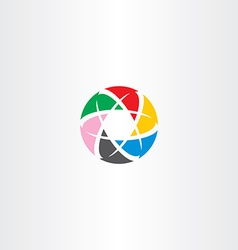abstract logo circle business tech colorful icon vector image