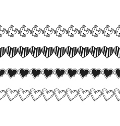 Black and white decorative ornament seamless vector image vector image