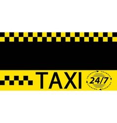 Business card taxi banner vector
