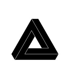 penrose triangle icon geometric 3d object optical vector image vector image
