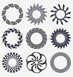 Abstract design elements set vector image