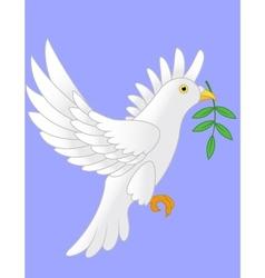 dove flying cartoon vector image vector image