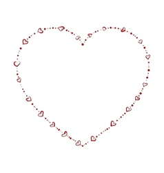 heart shaped beads vector image