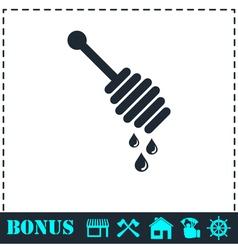 Honey icon flat vector
