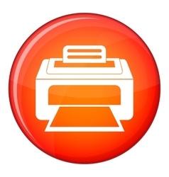 Modern laser printer icon flat style vector image vector image