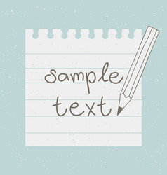 various white note paper vector image