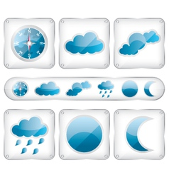 Weather glass icons vector image vector image