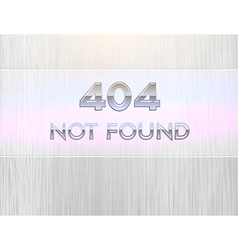 404 Error Sign vector