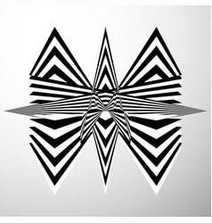 Abstract crumpled distorted shape geometric edgy vector