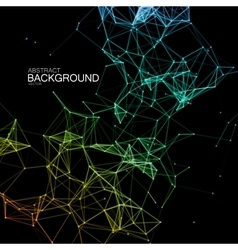 Abstract illuminated particles and lines vector
