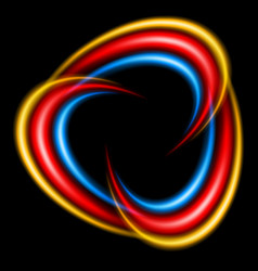 abstract swirl icon on black background vector image