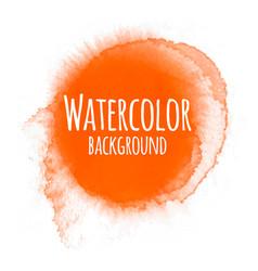Abstract watercolor background orange color vector