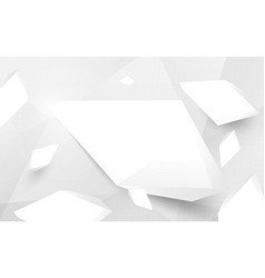 abstract white 3d crystal broken and haft tone vector image