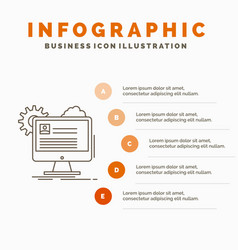account profile report edit update infographics vector image
