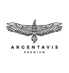 argentavis bird monoline outline logo icon vector image