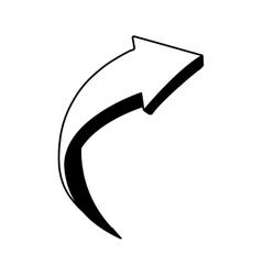 arrow monochrome isolated icon vector image